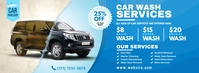 Car Wash Services Facebook Cover Photo template
