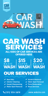 Car Wash Services Roll-Up Banner template