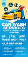 Car Wash Services Roll-Up Banner Cartel enrollable de 3 × 6 pulg. template