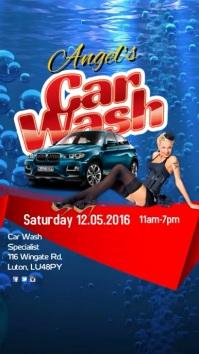 Car Wash Special Instagram Digital Display (9:16) template
