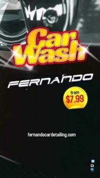 Car Wash Template Digitalanzeige (9:16)