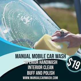 Car Wash Video Ad Template Square (1:1)
