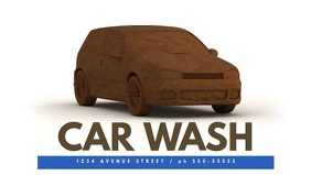 Car wash video promotion template for facebook