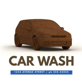 Car wash video promotion template for Instagram