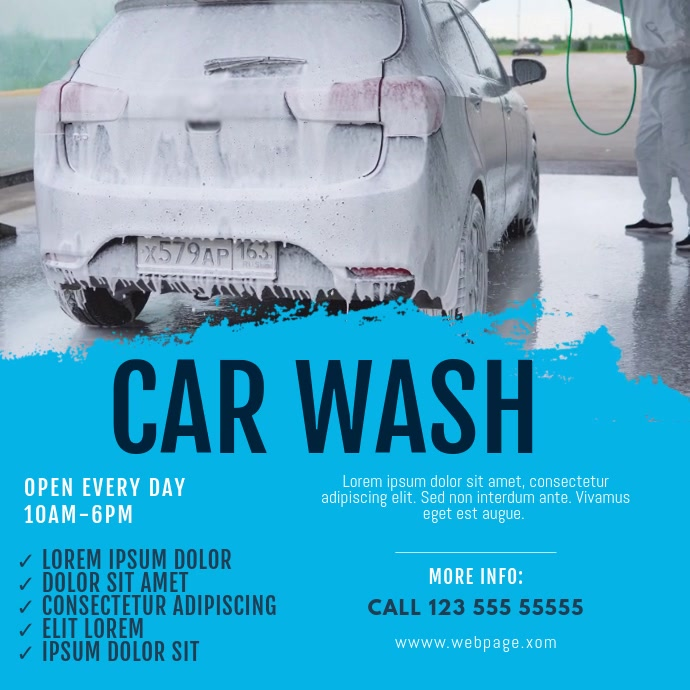 Car wash Video Template Vierkant (1:1)