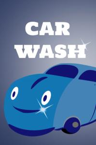 Car washing poster