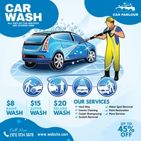 Car Washing Service Ad Publicación de Instagram template