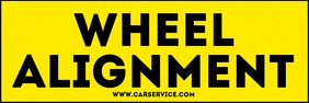 Car Wheel Alignment Sign Template Banner 2' × 6'