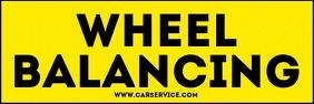 Car Wheel Balancing Sign Template Banner 2' × 6'