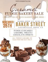 Caramel Fudge Bakery Sale Event Template