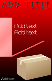 cardboard box in red- moving company template