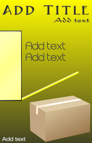 cardboard box in yellow- moving company template