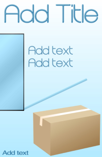 cardboard box - moving company template