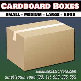 cardboard box - template
