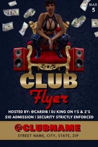 CARDI B CLUB FLYER