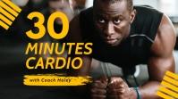 Cardio class youtube fitness thumbnail design template