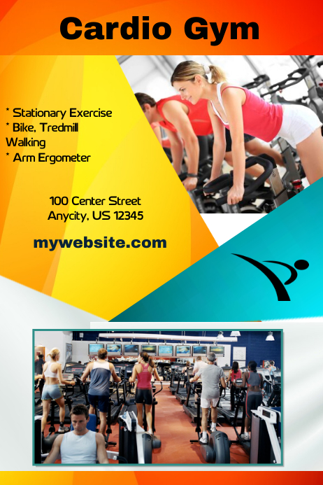 cardio gym fitness flyer template