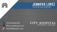 Cardiologist business card Ikhadi Lebhizinisi template