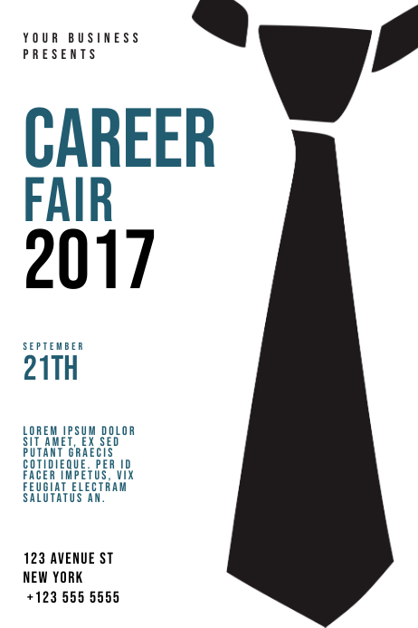Career Business Fair Template