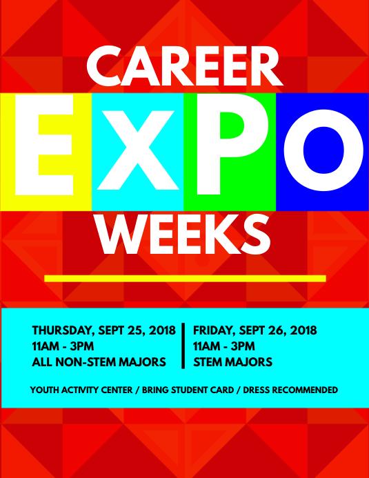 Career expo flyer template postermywall career expo flyer template maxwellsz