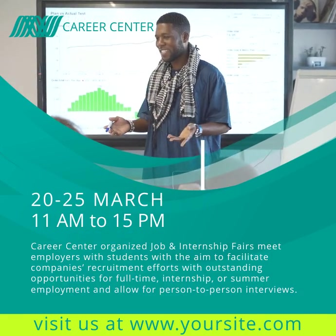 Career fair video ad template postermywall career fair video ad template maxwellsz