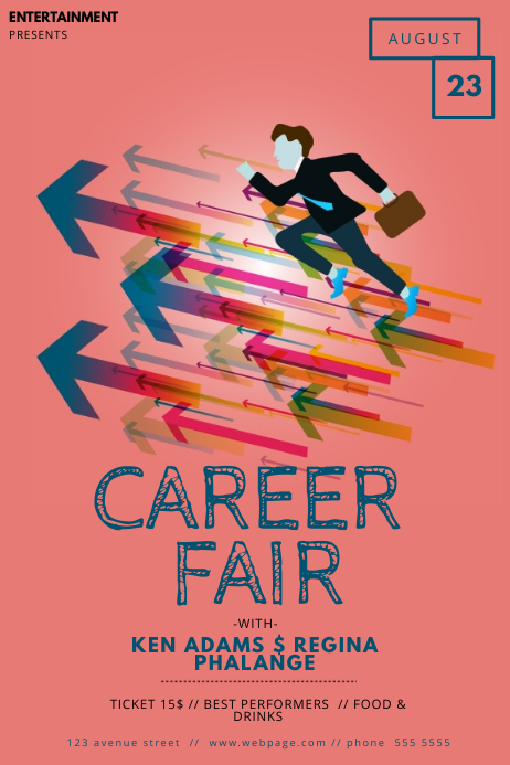 Career Fair Flyer Template Poster