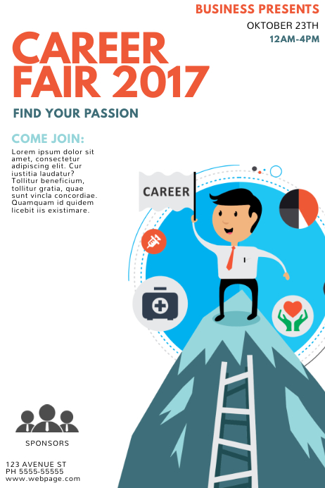 Career fair flyer template postermywall career fair flyer template maxwellsz