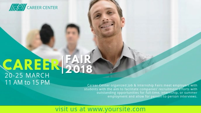 Career Fair Video Ad Template Digitale display (16:9)