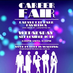 Career Fair Video Square (1:1) template