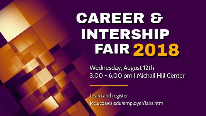 Career Internship Fair Video Template