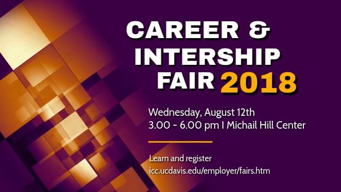 Career Internship Fair Video Template Facebook-omslagvideo (16:9)