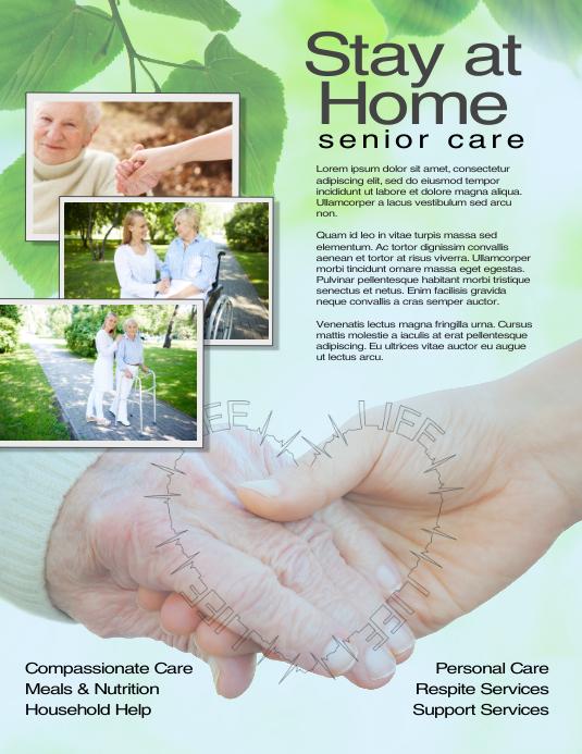 Caregiver Senior Care Flyer Template