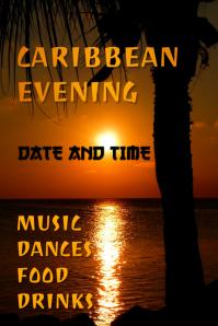 Caribbean Evening poster