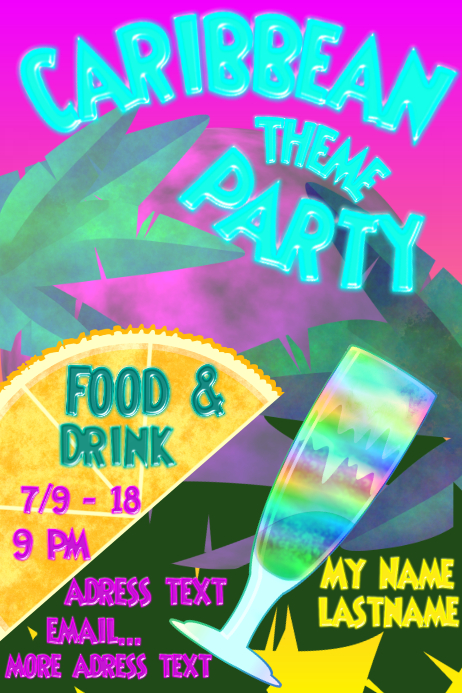 Caribbean Theme Party Template PosterMyWall