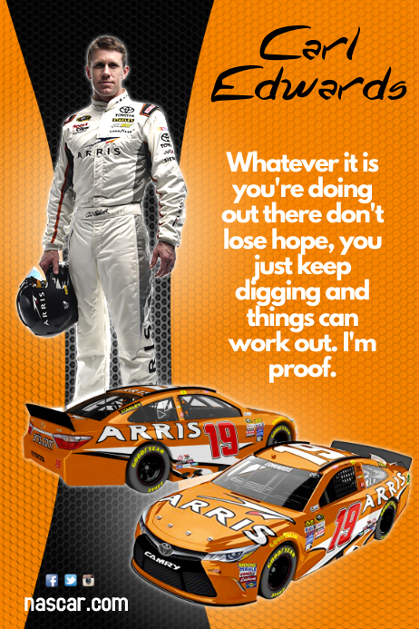 Carl Edwards Poster