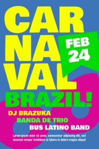 Carnaval Brazil carnival party poster