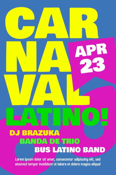 Carnaval Party Poster