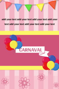 Carnaval Poster Design Template