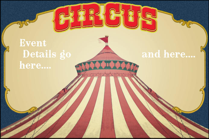 carnival circus themed party event flyer poster invitation template