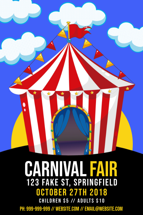 Carnival Fair Poster Template | PosterMyWall