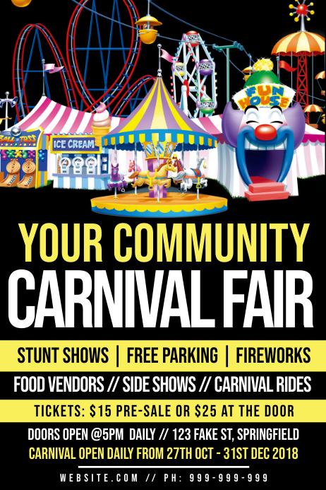Carnival Fair Poster