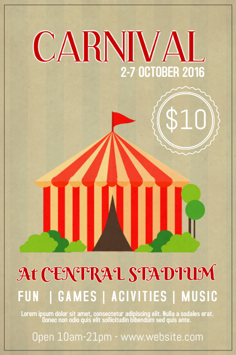 carnival poster flyer template