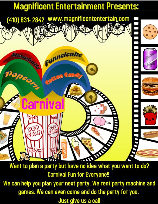 carnival flyer customize template