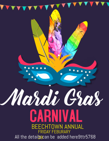 carnival flyers,event flyers,mardigras