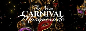 Carnival Masquerade Facebook Cover Photo template