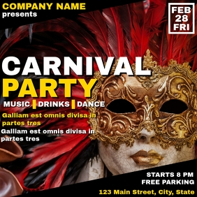 Carnival party flyer instagram post advertise