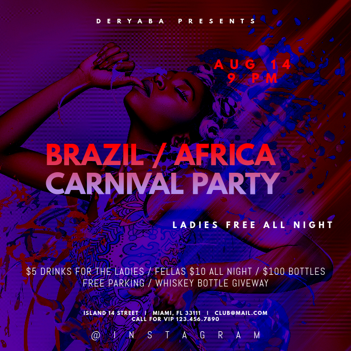 Carnival Party Instagram Banner Template