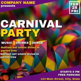 Carnival party instagram post advertisement