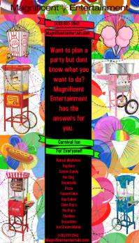Carnival flyer Visitkort template