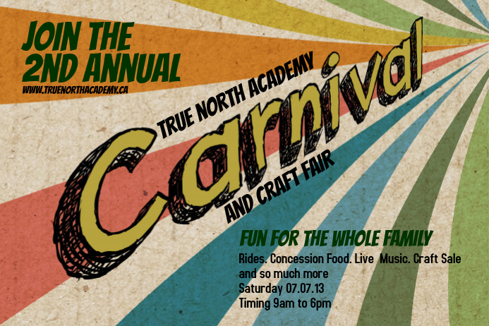 carnival poster template postermywall